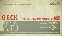 G.E.C.K. - The Garden of Eden Creation Kit